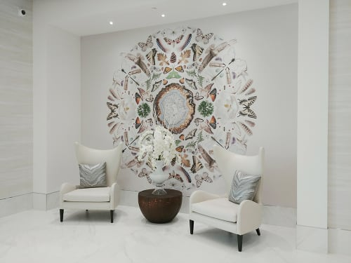 Murals by Amy Rader seen at Icon Midtown Apartments in Atlanta, Atlanta - Icon Midtown