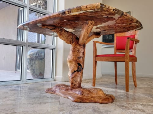 4x6ft Maple Burl Clear Resin Tree Table | Tables by Lumberlust Designs