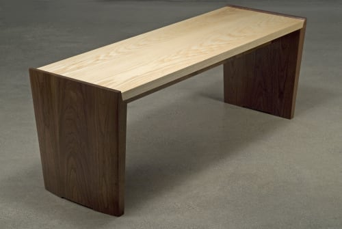Parenthetical bench | Benches & Ottomans by Eben Blaney Furniture | Farnsworth Art Museum in Rockland