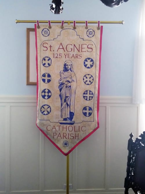 Wall Hangings by Stefan Salinas seen at Saint Agnes Church, San Francisco - St. Agnes Processional Banner