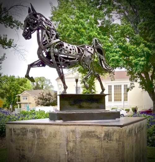 Public Sculptures by Pierre Riche Art seen at Private Residence, Reno - Iron Horse