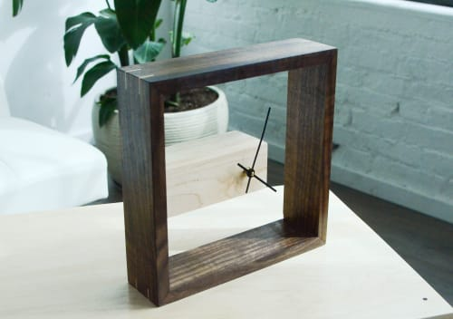 Art & Wall Decor by THE IRON ROOTS DESIGNS seen at Private Residence - Pearl District, Portland, Portland - Modern Frame Wall and Table Clock