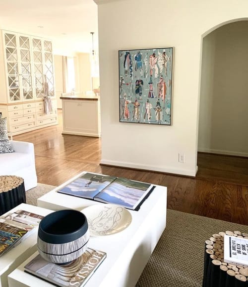 Paintings by Mary Ball seen at Private Residence, Birmingham - Circus Crew