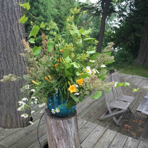 Floral Arrangements by Catharina Goldnau Ceramics seen at Private Residence - Toronto, ON, Toronto - Wild flower vase