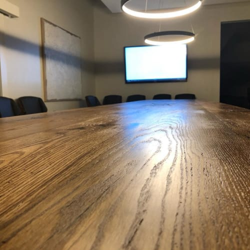 Tables by Timber Artisans LLC seen at BAMA BUDWEISER OF SHELBY CNTY, Harpersville - Conference Table
