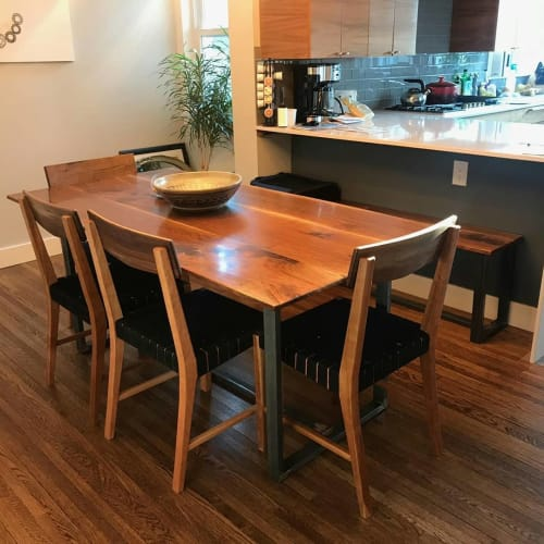 Chairs by Blak Haus Furniture seen at Private Residence, Minneapolis - Mosir Dining Chairs