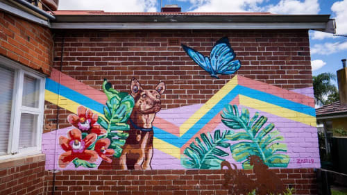 Murals by Nick Zafir seen at Private Residence, Perth - Mural