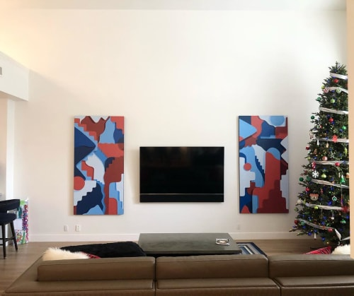 Paintings by Tyson Krank seen at Private Residence, Phoenix - Diptych