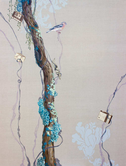 Paintings by Lauren Matsumoto seen at Private Residence, Zürich - The Lost Audiotape