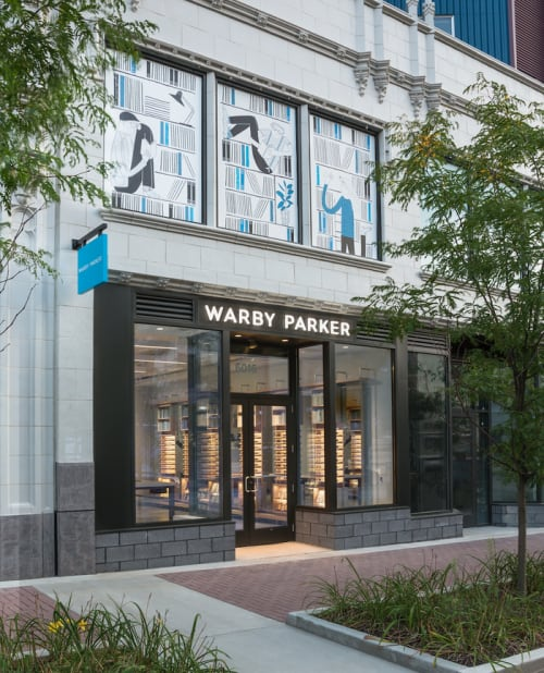 Murals by Anna Wray seen at Warby Parker Pittsburgh, Pittsburgh - Exterior Mural