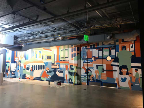 Murals by Emily Fromm - Rancho Art Productions seen at Twitter, San Francisco - Twitter HQ Mural