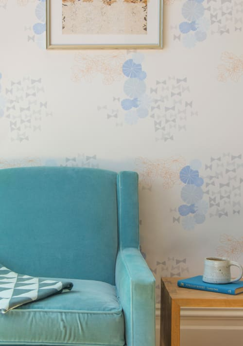 Wallpaper by Metolius seen at Private Residence, San Francisco, CA, San Francisco - Metolius Bowties Wallpaper
