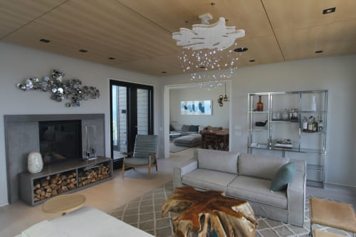 Chandeliers by Jason Krugman at Private Residence, Westhampton Beach - Breathe Chandelier