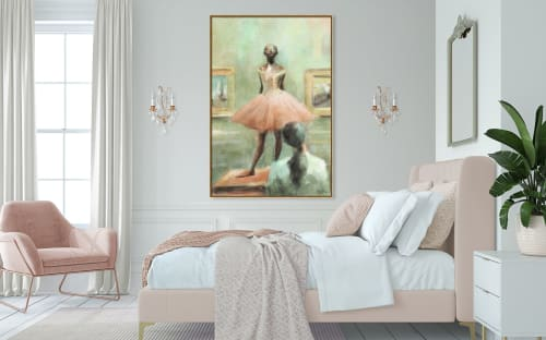 """Paintings by Beverly Brown seen at Creator's Studio, New York - """"Gazing at Degas"""" giclée canvas print"""