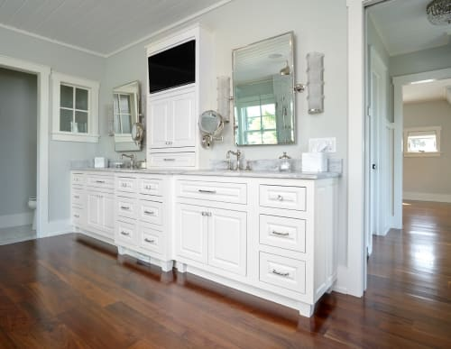 Interior Design by Chicone Cabinetmakers seen at Cayuga Lake - Custom Vanity