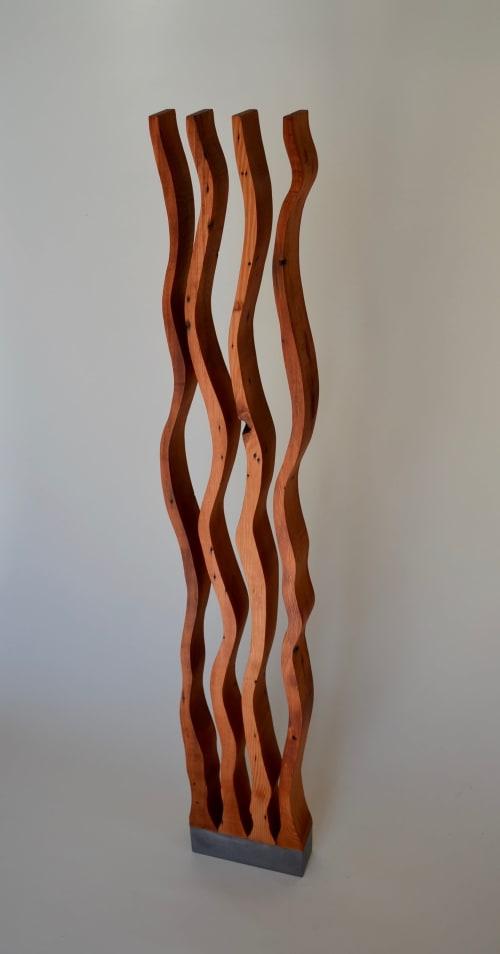 Wood Sculpture - Four Dancers | Sculptures by Lutz Hornischer - Sculptures & Wood Art