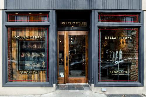 Signage by Noble Signs seen at Dellapietras, Brooklyn - Dellapietras Design, Painting, Gilding