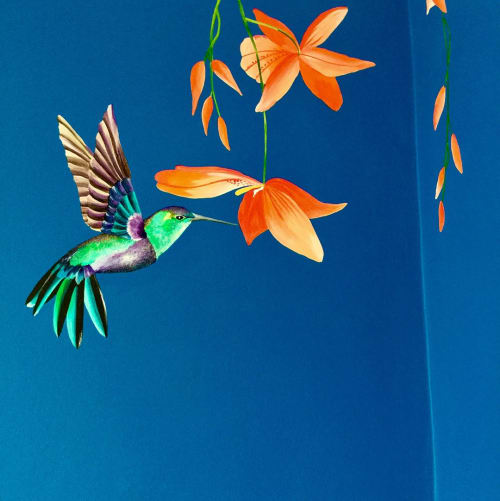 Murals by Louise Dean - Artist seen at Private Residence, Faversham - The Tropical Bathroom