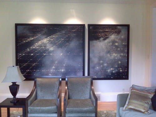 Paintings by Dennis Ekstedt seen at Private Residence, Calgary - Sprawl # 6