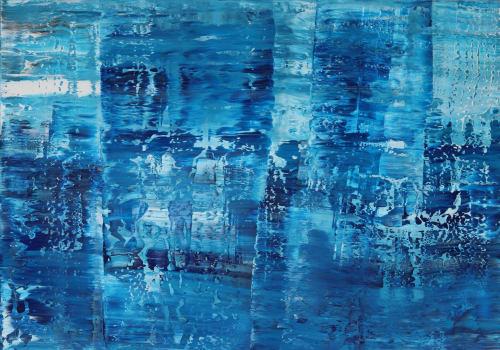 Paintings by Koen Lybaert Studio - Esther Santoyo Gallery seen at Private Residence, Califon - Emperor Bay [Abstract N°2381]