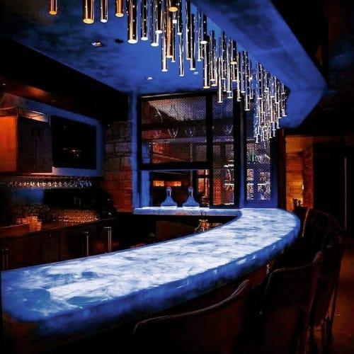 Lighting by ILANEL DESIGN STUDIO seen at Cherish Spirits Lounge, Denver - RAIN Light Drops