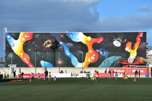 Street Murals by Ana Santiso seen at Private Residence - Pontevedra, Spain, Vigo - Gracias Universo
