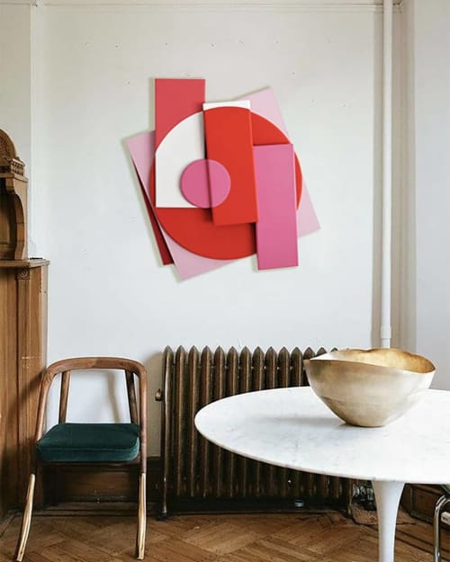 """Pink Makes The Boys Wink"", Painting, by Charlie Oscar Patterson in  Private Home, London"