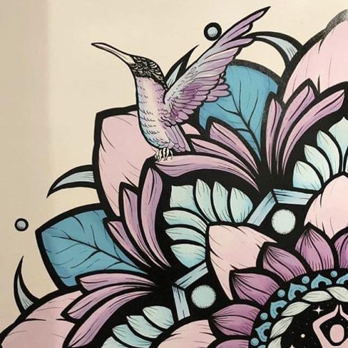 Murals by Phlox Graphix seen at Madrid, Madrid - Colourful Mandala Mural