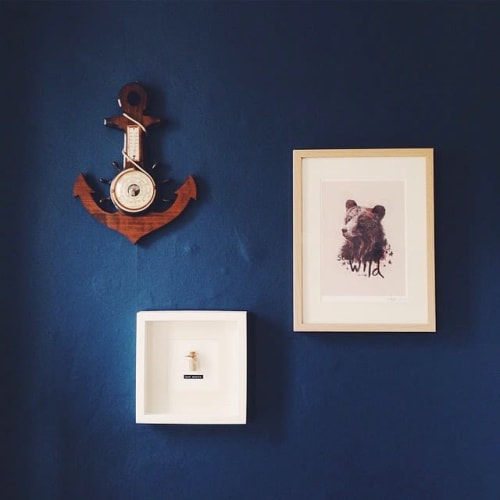 Paintings by Rosie Harbottle seen at Private Residence, Bristol - Bear Print