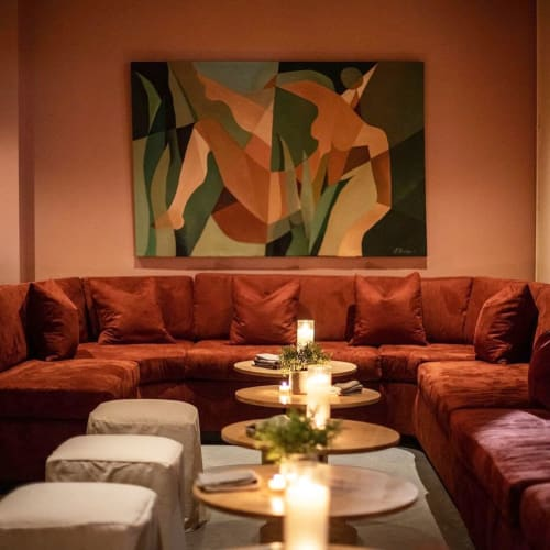 Paintings by Jessalyn Brooks seen at Bar Caló, Los Angeles - Abstract Painting