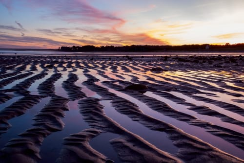 """Tidal Sand Ripple, 42"""" x 66""""   Photography by Chris Becker"""