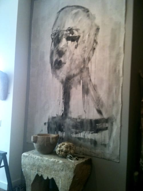Giant Heads &  Good Design | Paintings by Corinna Button | Michael Del Piero Good Design in Chicago