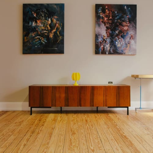 Paintings by Daniel Thouw seen at Private Residence, Heidelberg - Should I stay or should I go and Gap