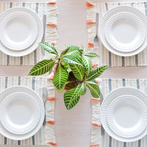 Tableware by Zuahaza by Tatiana seen at Private Residence, Bogotá - Custom Placemats