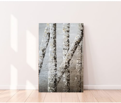 Paintings by DANIELA PASQUALINI seen at Private Residence, Richardson - Birch tree I