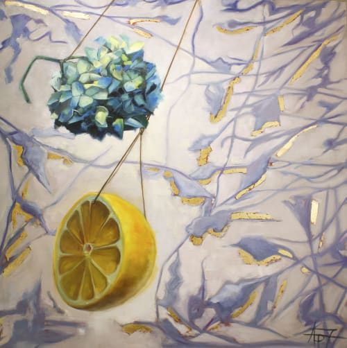 Looking | Paintings by Andie Paradis Freeman | Hagood Homes at St. James Plantation in Southport