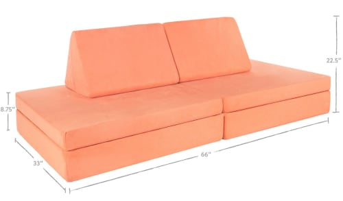 Couches & Sofas by Nugget Comfort seen at Chantelle Lourens' Home - The Nugget - Peach Couch