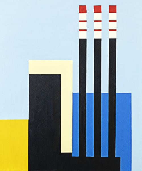 Paintings by Marco Domeniconi Studio seen at New York, New York - In the Shadow of Big Allis