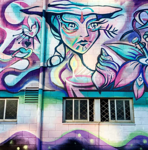 Street Murals by Gamze seen at La Bañeza, La Bañeza - Wall Mural