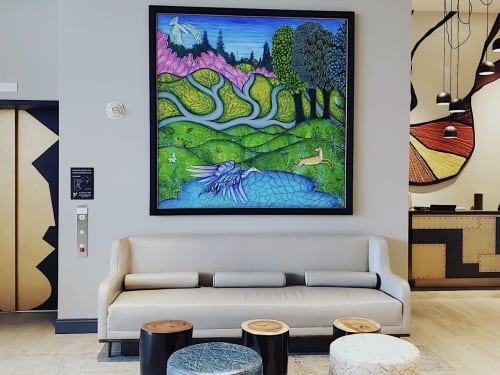 Paintings by Siona Benjamin seen at The MC Hotel, Autograph Collection, Montclair - Montclair Shangri-La