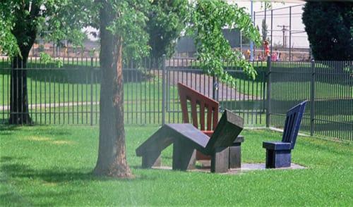 Public Sculptures by Susan Cooper seen at Congress Park, Denver - PARKED PERSPECTIVES