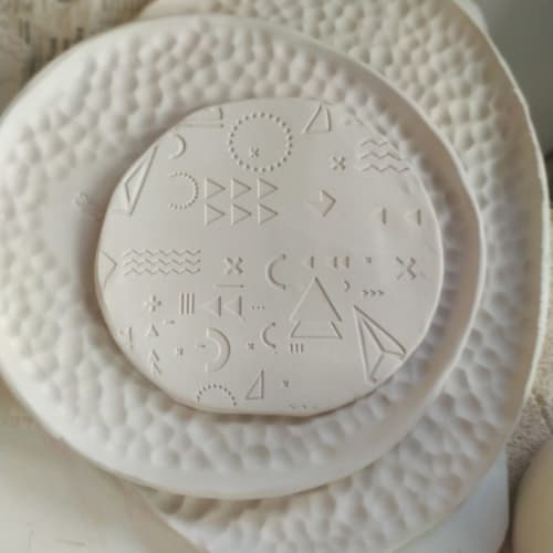 Ceramic Plates by WOODIC seen at Creator's Studio, Candamo - Moon plates