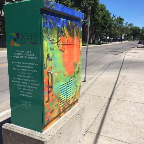 Street Murals by Emily Williams-Wheeler seen at Fargo, Fargo - Cyclic Nature