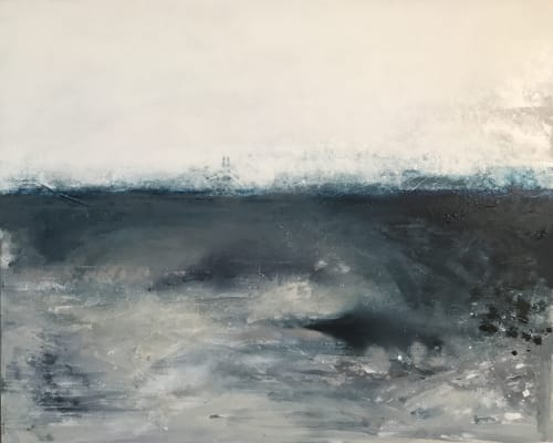 Paintings by Kathleen Rhee seen at Private Residence, Coolamon - Midnight Blue Seascape