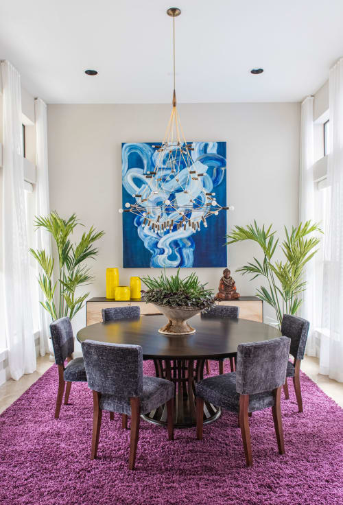 """Paintings by Sydney Yeager seen at Private Residence, Houston, Houston - """"Naiad #2"""" Painting"""