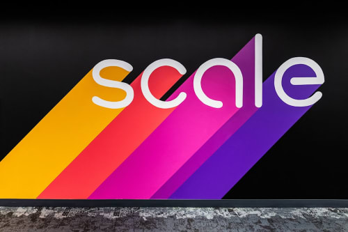 Murals by Lindsey Millikan (Milli) seen at Scale AI, San Francisco - Scale Brand Mural