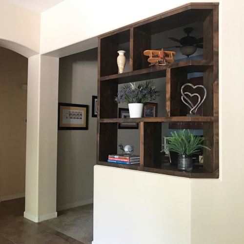 Furniture by The Awesome Orange seen at Private Residence, Tempe - Custom Shelving