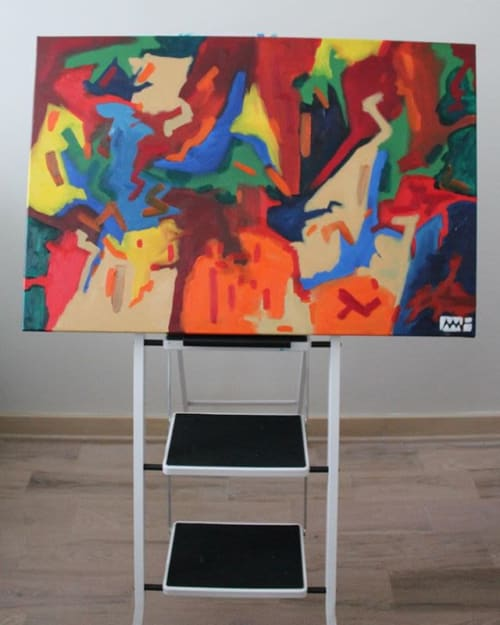 Paintings by Myles Hunt seen at Private Residence, Queens - Into The Wild