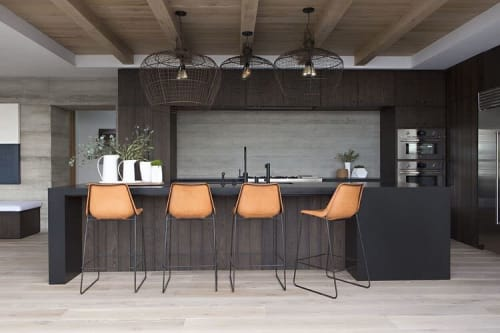 Pendants by Buzzell Studios seen at Private Residence, Los Angeles - Basket Lights