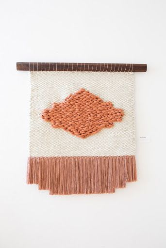 Wall Hangings by Keyaiira   leather + fiber seen at Private Residence, Sonoma - Pink Matter